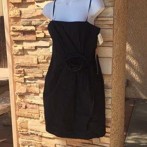 David Meister  size 6 black designer dress New